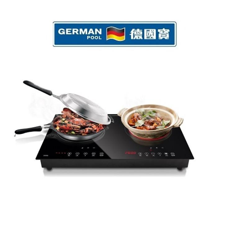 German Pool 德國寶 GIC-DD28B /2800W嵌入式雙頭電磁爐 電陶爐 |