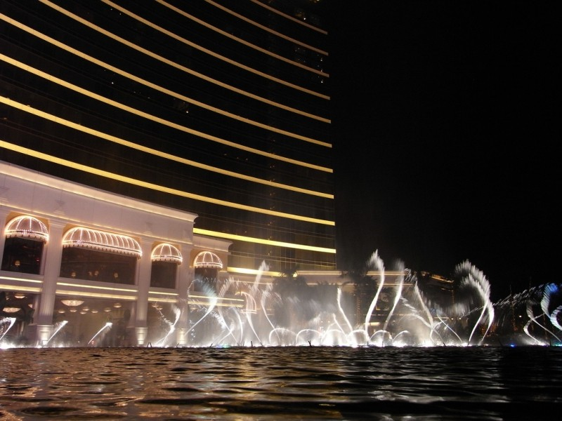 永利噴泉表演 Performance Lake