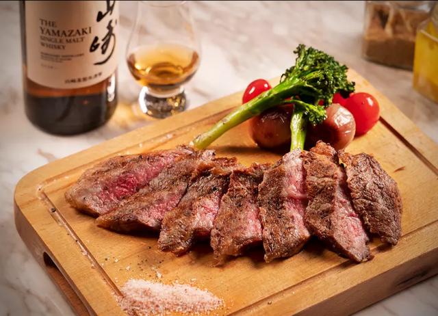 山崎威士忌風乾熟成鹿兒島A5和牛扒