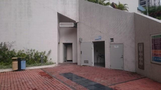 JT2 氹仔美副將馬路,湖畔大廈平台花園公廁